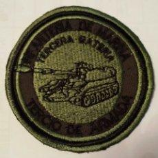 Militaria: PARCHE EMBLEMA TERCERA BATERÍA INF. DE MARINA VERDE. Lote 112718926