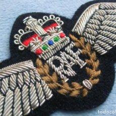 Militaria: INSIGNIA DISTINTIVO ALAS DE PILOTO BRITANICO. RAF. EXCELENTE BORDADO. ROYAL AIR FORCE.. Lote 112866755