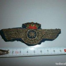 antiguo parche comandante de aviacion rokiski bordado con hilo metalico guerra civil o posguerra