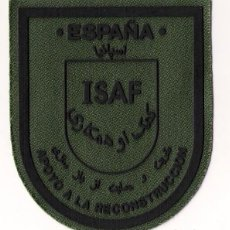 Militaria: PARCHE EMBLEMA ISAF APOYO A LA RECONSTRUCCIÓN VERDE. Lote 255510450