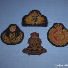 Militaria: * LOTE 4 PARCHE BORDADO ANTIGUO, INGLES Y DE ALGUN OTRO PAIS. ORIGINAL, II GUERRA MUNDIAL ? ZX. Lote 113181755