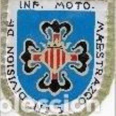 Militaria: PARCHE 'DIVISIÓN DE INF. MOTO. MAESTRAZGO Nº 3'. Lote 115206399