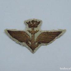 Militaria: ROKISKI DE TELA DE AVIACION NAVAL, ARMA AEREA, AERONAUTICA NAVAL, REALIZADO EN HILO DE ORO, EPOCA DE. Lote 115540111