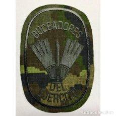Militaria: ESTUPENDO PARCHE DE BUCEADORES DE COMBATE EN VERDE PIXELADO DE 5 X 9 CMTS. Lote 146504081