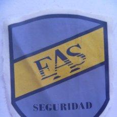 Militaria: PARCHE DE EMPRESA DE SEGURIDAD PRIVADA : EAS SEGURIDAD. Lote 62084588