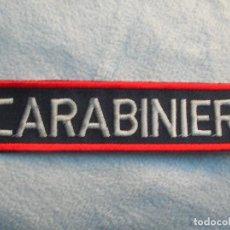 Militaria: PARCHE BORDADO DISTINTIVO DE LOS CARABINIERI ITALIANOS.. Lote 117968595