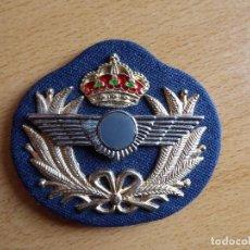 Militaria: GALLETA AVIACIÓN GORRA DE PLATO.. Lote 119141947