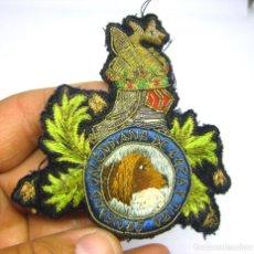 Militaria: EXCELENTE GRAN PARCHE ANTIGUO EMBLEMA BRAZO SOCIEDAD VALENCIANA DE CAZA Y TIRO . Lote 124227491
