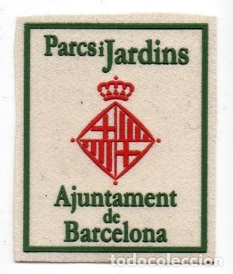 PARCHE BARCELONA PARQUES Y JARDINES (Militar - Parches de tela )