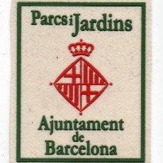 Militaria: PARCHE BARCELONA PARQUES Y JARDINES. Lote 279356758