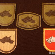 Militaria: 5 PARCHES TANQUES-CUARTEL GENERAL. Lote 126067603