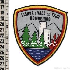 Militaria: BOMBEIROS LISBOA E VALE DO TEJO - PORTUGAL - PARCHE BOMBERO. Lote 126388095