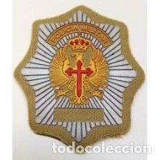 Militaria: PARCHE POLICIA MILITAR ESCUDO A COLOR Y EN ARIDO. Lote 126680695