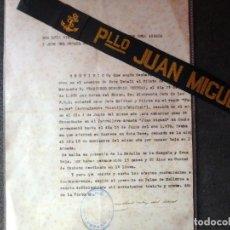 Militaria: (JX-180727)CINTA LEPANTO PATRULLERO ARMADO JUAN MIGUEL .BALEARES Y DOCUMENTACION - GUERRA CIVIL .. Lote 127694243