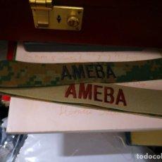 Militaria: 4 PARCHES MILITAR EN TIRA 2 OMEGA FORCE Y 2 AMEBA. Lote 128292523