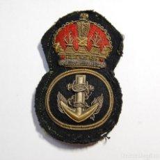 Militaria: INSIGNIA DE GORRA DE OFICIAL DE LA MARINA DE GUERRA DE REINO UNIDO.SEGUNDA GUERRA MUNDIAL.. Lote 128556055