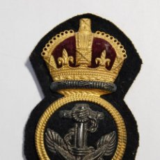 Militaria: INSIGNIA DE GORRA DE OFICIAL DE LA MARINA DE GUERRA DE REINO UNIDO.SEGUNDA GUERRA MUNDIAL.. Lote 128556379