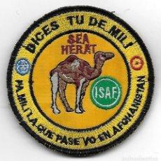 Militaria: PARCHE DICES TU DE MILI HERAT AFGHANISTAN ISAF MISION INTERNACIONAL, CON VELCRO. Lote 128774307