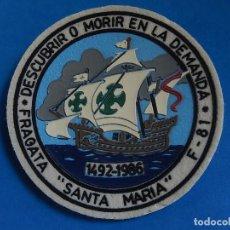 Militaria: ESCUDO O DISTINTIVO DE BRAZO. ARMADA ESPAÑOLA. FRAGATA SANTA MARÍA. F-81.. Lote 128797199