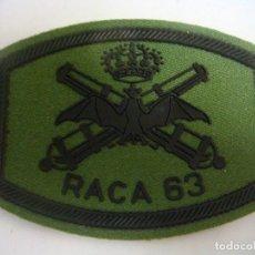 Militaria: PARCHE DE TELA RACA-63. Lote 130634802