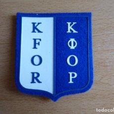 Militaria: PARCHE KFOR DEL EJÉRCITO ESPAÑOL. KOSOVO FORCE. Lote 131126168