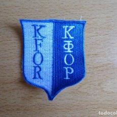 Militaria: PARCHE BORDADO KFOR DEL EJÉRCITO ESPAÑOL. KOSOVO FORCE. Lote 131129096