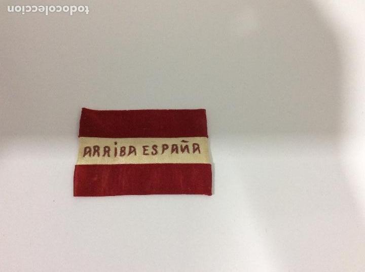 Militaria: Antiguo distintivo bordado en raso. Época de la guerra civil - Foto 2 - 131930710