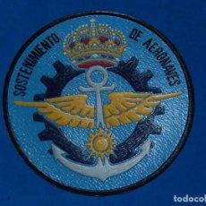 Militaria: ESCUDO DISTINTIVO. ARMADA ESPAÑOLA. SOSTENIMIENTO DE AERONAVES. ¿AÑOS 80?. Lote 132231550