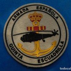 Militaria: ESCUDO DISTINTIVO. ARMADA ESPAÑOLA. QUINTA ESCUADRILLA. AÑOS ¿80?. DEBE SER APROXIMADAMENTE DE LOS . Lote 132237610