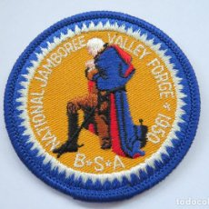 Militaria: BOY SCOUT PARCHE TELA SIN ESTRENAR 1950 - VALLEY FORGE NATIONAL JAMBOREE. Lote 133870202