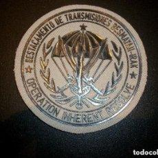 Militaria: PARCHE CIA TRANSMISIONES DE LA BRIPAC BASE BESMAYAH IRAK Nª 5. Lote 134025874