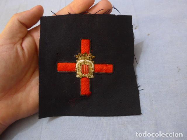 * ANTIGUO PARCHE DE MEDALLA ORDEN DE LA NOBLEZA CATALANA, PARA OFICIAL, ORIGINAL. DE CASTELLS. ZX (Militar - Parches de tela )