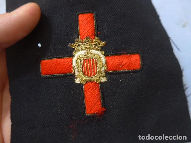 Militaria: * Antiguo parche de medalla orden de la nobleza catalana, para oficial, original. De Castells. ZX - Foto 2 - 135032790