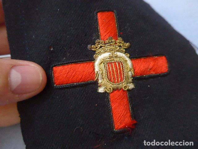 Militaria: * Antiguo parche de medalla orden de la nobleza catalana, para oficial, original. De Castells. ZX - Foto 3 - 135032790