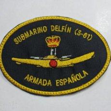 Militaria: PARCHE EMBLEMA BORDADO SUBMARINO S-61 DELFÍN. Lote 194982170