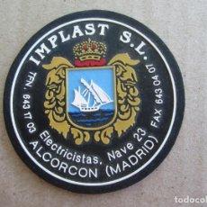 Militaria: PARCHE TELA IMPLAST ,ELECTRICISTAS , ALCORCON , MADRID. Lote 137735842