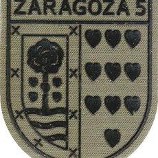 Militaria: PARCHE REGIMIENTO DE INFANTERÍA ZARAGOZA 5 DE PARACAIDISTAS BRIPAC III BANDERA. Lote 137778886
