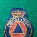 Militaria: PARCHE EMBLEMA DISTINTIVO PROTECCION CIVIL ESPAÑOLA TELA BORDADO. Lote 135527234