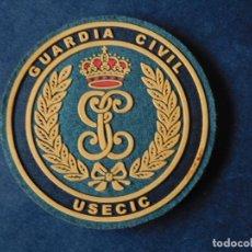 Militaria: PARCHE GUARDIA CIVIL USECIC FONDO VERDE Y NEGRO ORIGINAL 9 CTM DIAMETRO CON VELCRO.-. Lote 157262772