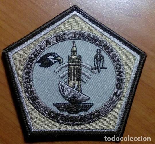 PARCHE BORDADO. ESCUADRILLA TRANSMISIONES. CEZMAN 02, ÁRIDO. SEVILLA. EJERCITO DEL AIRE. ESPAÑA. (Militar - Parches de tela )