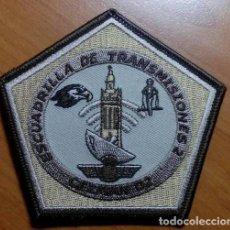 Militaria: PARCHE BORDADO. ESCUADRILLA TRANSMISIONES. CEZMAN 02, ÁRIDO. SEVILLA. EJERCITO DEL AIRE. ESPAÑA.. Lote 142120978