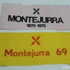 Militaria: BANDAS DE TELA TIPO BANDERIN DE MONTEJURRA 1873-1973 Y MONTEJURRA 69, CARLISMO, CARLISTA, REQUETE, M. Lote 142656834
