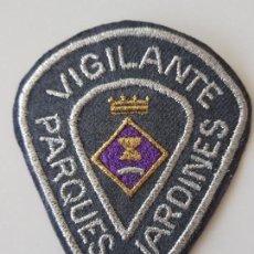 Militaria: PARCHE BORDADO POLICIA MUNICIPAL VIGILANCIA PARQUES Y JARDINES S. ADRIAN DE BESOS. Lote 143218538