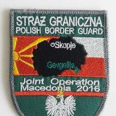 Militaria: PARCHE POLICÍA POLONIA, OPERACIONES CONJUNTAS POLONIA-MACEDONIA 2016 (530). Lote 145374646