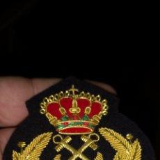 Militaria: COCARDA O PARCHE BORDADO DE MARINA EN HILO DE ORO. Lote 146020214