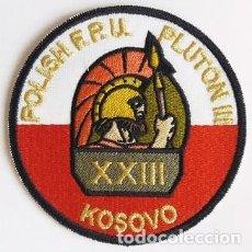 Militaria: PARCHE POLICÍA POLONIA, MISIÓN INTERNACIONAL KOSOVO (047). Lote 147624102