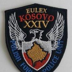 Militaria: PARCHE POLICÍA POLONIA, MISIÓN EULEX KOSOVO (870). Lote 147624830