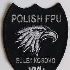 Militaria: PARCHE POLICÍA POLONIA, MISIÓN EULEX KOSOVO (370). Lote 147624914