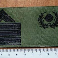 Militaria: PARCHE GALLETA DE PECHO DIVISAS SARGENTO PRIMERO INTENDENCIA. Lote 147728718
