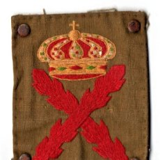 Militaria: GUERRA CIVIL ESPAÑOLA,INSIGNIA-PARCHE DE TELA,UNIFORME REQUETE-CARLISTA TERCIO MONTSERRAT,CATALUÑA. Lote 148205758